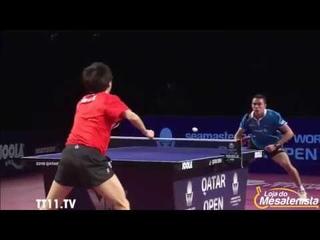 Hugo Calderano vs Lin Gaoyuan - 1/2 Qatar Open 2018