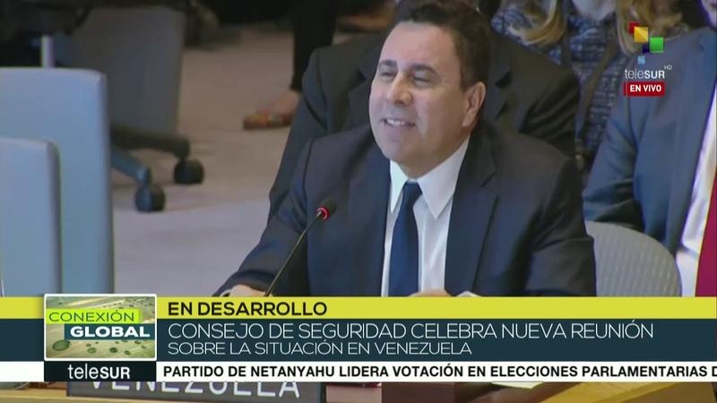 Embajador venezolano ante ONU acusa a EE.UU. de aplicar plan golpista