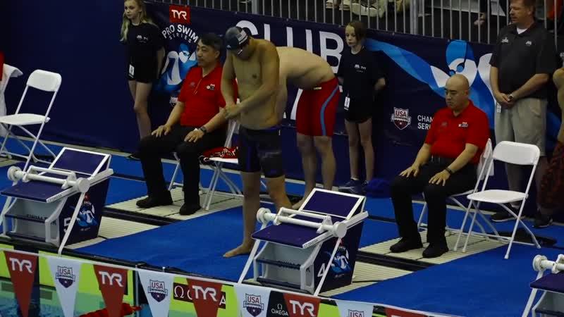 Men's 50m Back A Final _ 2019 TYR Pro Swim Series - Richmond