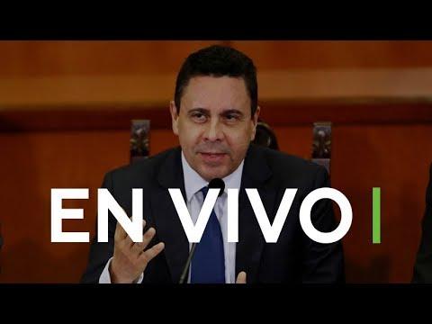 El embajador de Venezuela ante la ONU ofrece una rueda de prensa