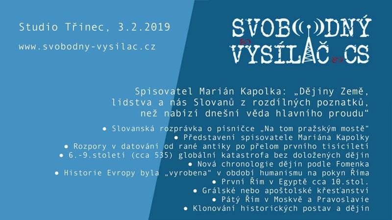SVCS 2019-02-03 Studio Třinec – Dějiny nejspíše proběhly jinak, s Mariánem Kapolkou
