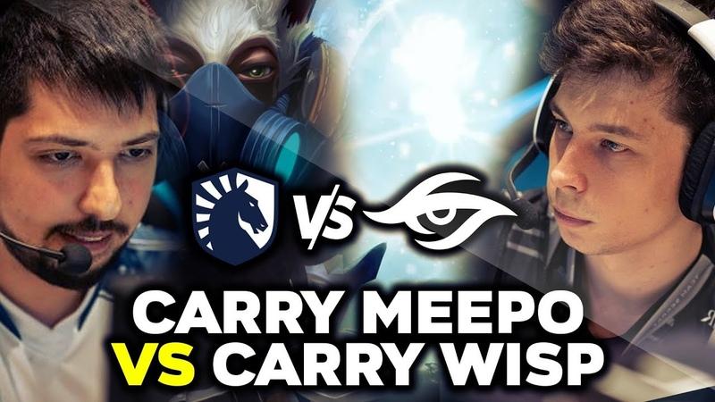 W33 Meepo vs Nisha IO Wisp Carry - WTF Matchup - LIQUID vs SECRET THE INTERNATIONAL 2019 TI9 DOTA 2