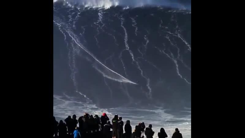 Surfing a 150 feet wave.