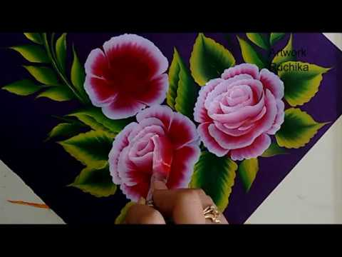 One Stroke Rose Painting | Acrylic Painting Technique