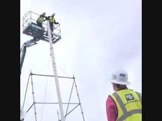 Высокие технологии () - Важность каски на рабочих объектах