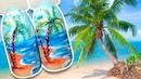 🌴 Пальма на фоне Моря и Пляжа 🌴 Морской пейзаж / Летний дизайн для Маникюра в Отпуск Patrisa Nail