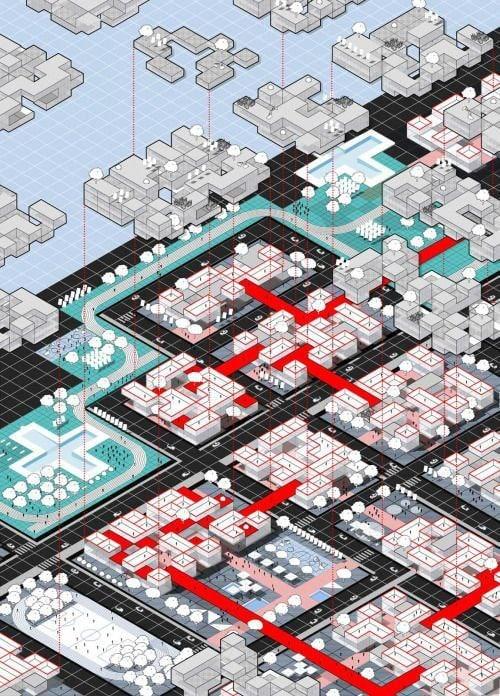 Концептуальные графические изображения городов.