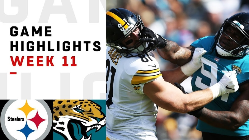 Steelers vs. Jaguars Week 11 Highlights NFL