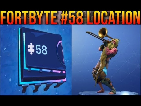 Fortnite Fortbyte 58 - Accessible By Using The Sad Trombone Emote At The North End Of Snobby Shores