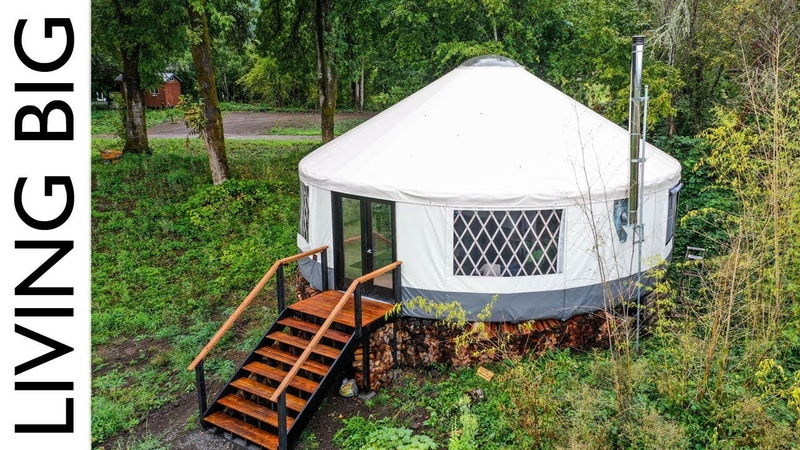 Amazing Modern Yurt Is A Design Marvel || Living Big In A Tiny House