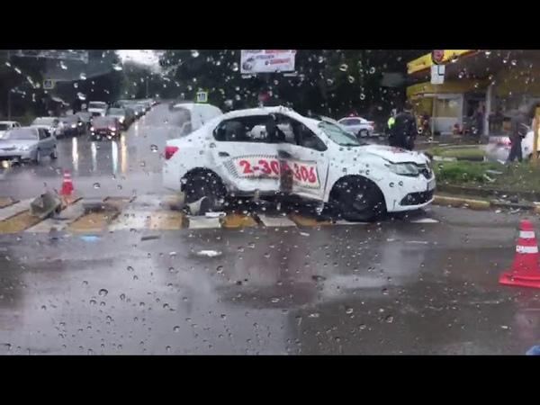 Авария с машиной такси в Ростове на стачки 26 05 2019