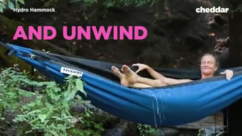 What's more relaxing: A hot tub or a hammock? Now you can have both.