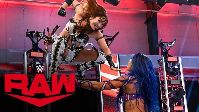 Kairi Sane vs Sasha Banks Raw July 6 2020