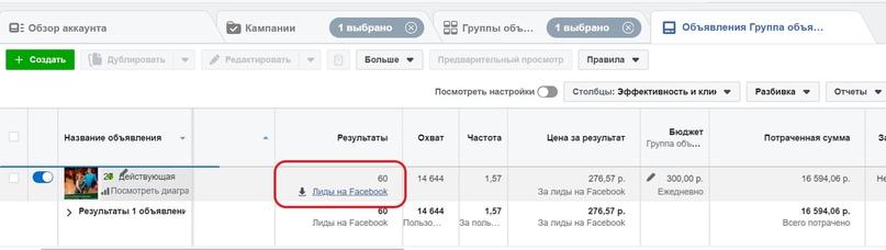 Просмотр заявок в лид-форме Facebook, изображение №1