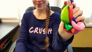 ASMR Blowing balloons. Inflating and deflating. No talking🎈