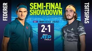 Roger Federer vs Stefanos Tsitsipas | ATP World Tour Finals 2019 | Semi-Final Highlights