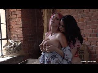 Luna & kata [big natural tits, lactation milk, lesbian, 1080p]