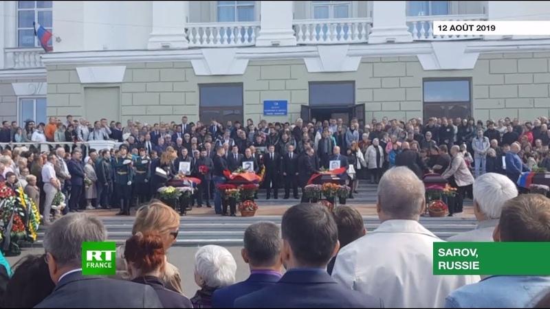 Russie une cérémonie d'hommage aux décédés dans l'explosion lors de tests militaires