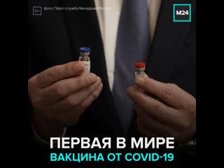 Россия первой в мире зарегистрировала вакцину от Covid-19  Москва 24