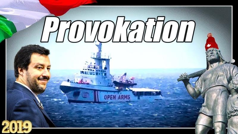 Open Arms Provokation | Schwimmlektionen vor Lampedusa | Salvini im Senat