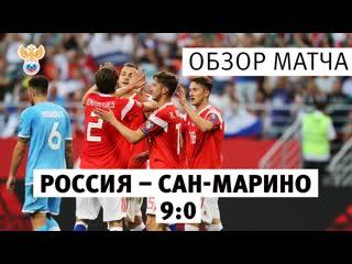 Обзор матча Россия - Сан-Марино