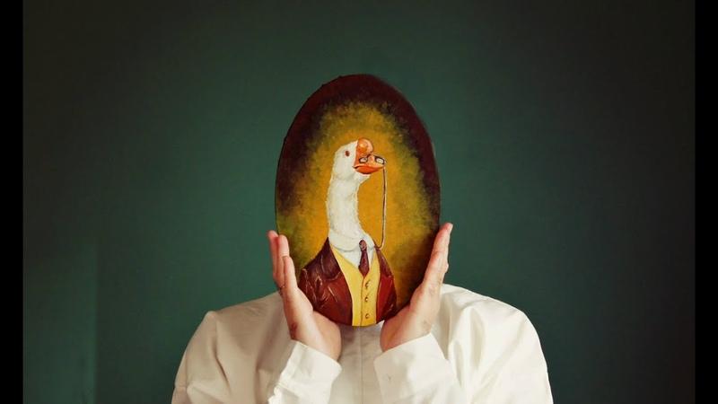 Oil painting on canvas (Sir Goose) presentationМасляная живопись на холсте (сэр гусь) презентация