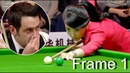 Frame 1, ronnie won pan xiaoting china girl 6 red snooker special match