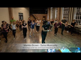 Mambo Brown - Salsa Musicality    Workshops on NY fest. 2019