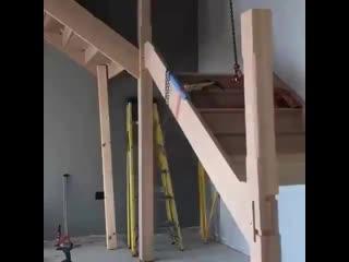 Хитрости строительства лестницы в одиночку - Строим дом своими руками