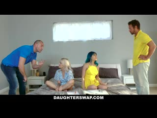 DaughterSwap - Disobedient StepDaughters Get Spanked And Fucked By Hot Dads