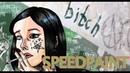【Speedpaint】  девочка с твоего двора   SAI   Artwork 2