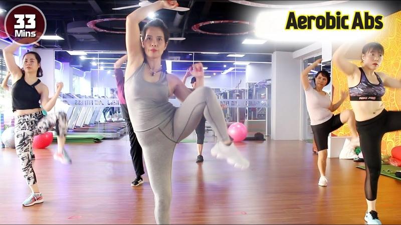 33 Menit Senam Aerobic Dance Membakar Lemak Perut Workout For Beginner l Aerobic Abs