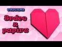 Origami srdce z papíru - jak vyrobit srdce z papíru - YouTube