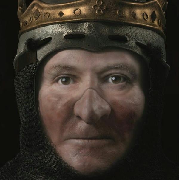 Цифровая реконструкция внешности шотландского короля Роберта Брюса.