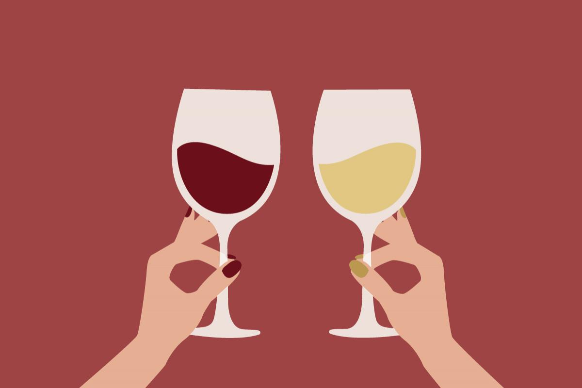 Бокалы с вином гифка