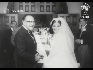 LONDON: FILM ACTRESS PIER ANGELI DIES (BLACK AND WHITE LIBRARY SCENES OF HER TWO WEDDINGS) (1971)