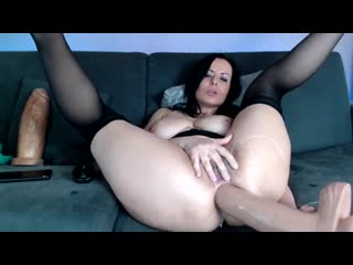 MILF With Saggy Natural Tits Anal Dildo On Webcam - CoViD-88