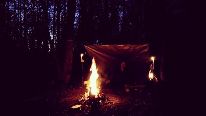 Один день наедине с природой 24 часовой поход Чай из чаги Ночевка в лесу в односкатном укрытии