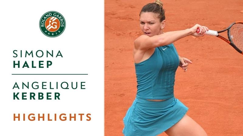Simona Halep vs Angelique Kerber Quarter Final Highlights I Roland Garros 2018