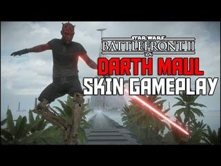 New Darth Maul Skin! OLD MASTER Gameplay/Showcase- Star Wars Battlefront 2