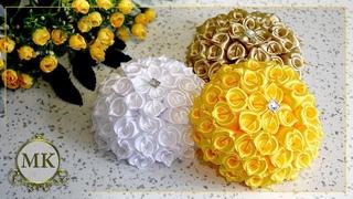 Цветы из лент. Новый лепесток. МК. Канзаши. / DIY. Kanzashi. Ribbon flowers. New petal
