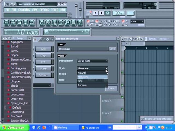 Fl Studio Speech synthesizer