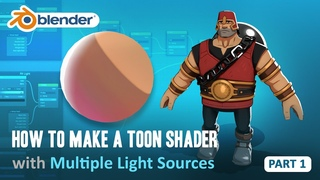 Toon Shader Tutorial - Part 1 - How to Have Multiple Light Sources (Blender 2.8/EEVEE)