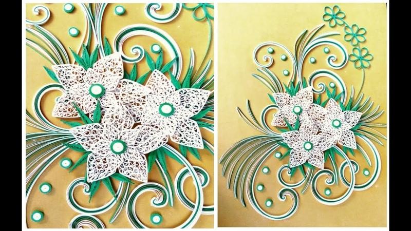 DIY QUILLING RTA HOW TO MAKE PAPER ART QUILLING BEAUTIFUL FLOWAR TUTORIAL PAPER ART