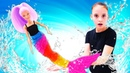 Барби русалка стала человеком. Игры с куклами в салон красоты.