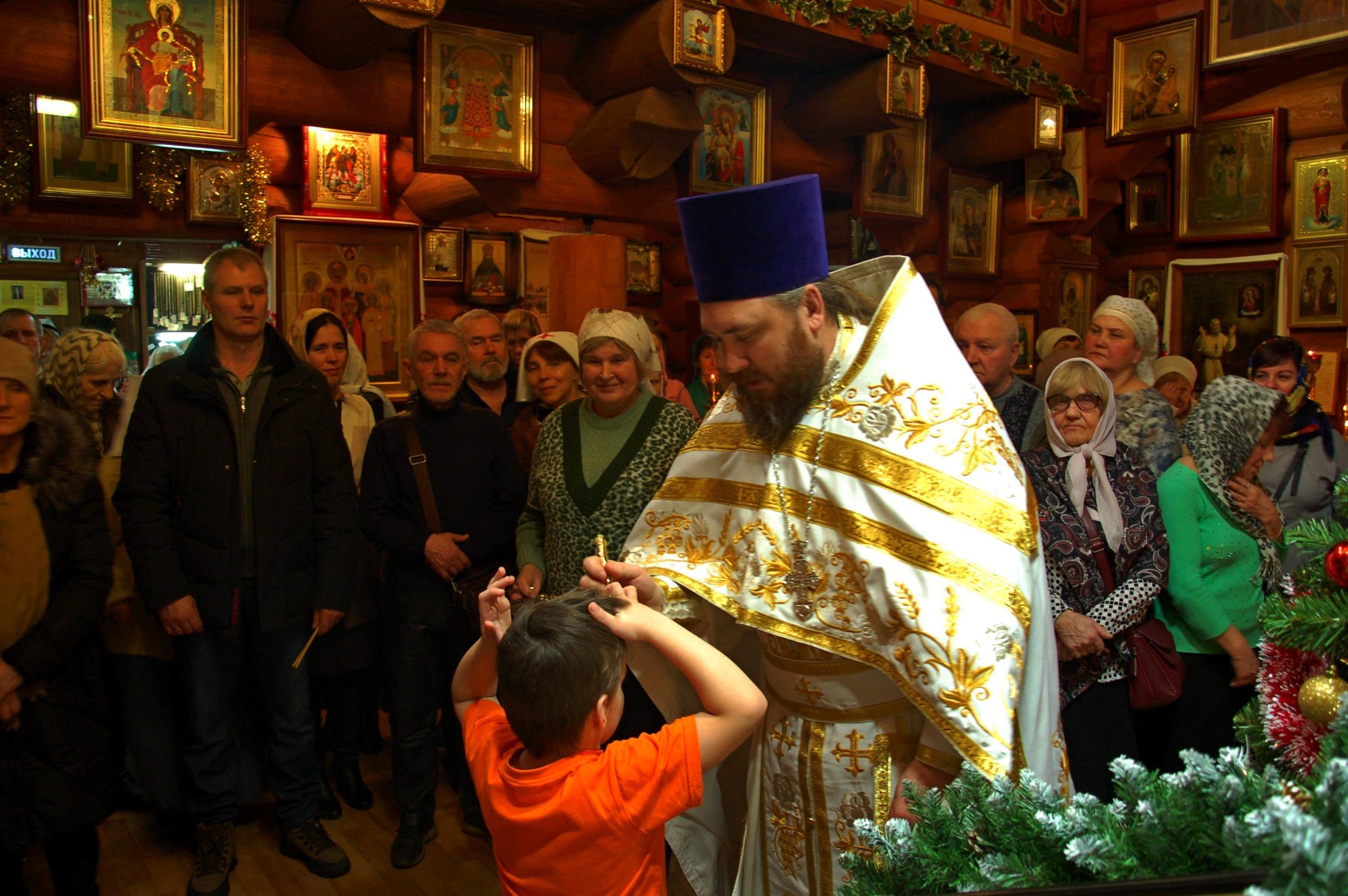 Светлый праздник Рождества Господа и Спасителя нашего Иисуса Христа в нашем храме.