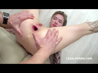 Mr. Anderson Anal Casting, Lina Piggy welcome to Porn with Balls Deep Anal, Nice Gapes and Cum in Mouth