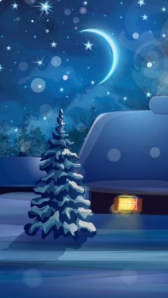 Вертикальные Обои На Телефон Зима Новый Год