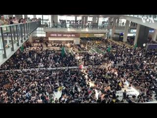 Protesters fill hong kongs international airport