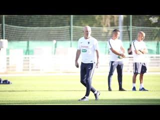 Entraînement et récupération pour les bleus, equipe de france i fff 2019